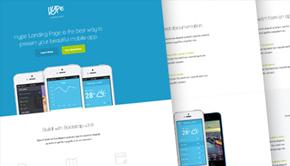 Hype – App Landing Page PSD