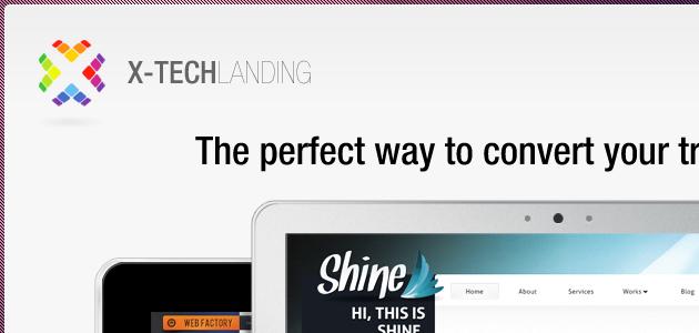 X-tech landing page psd