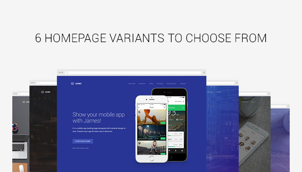 James - Material Design WordPres App Theme