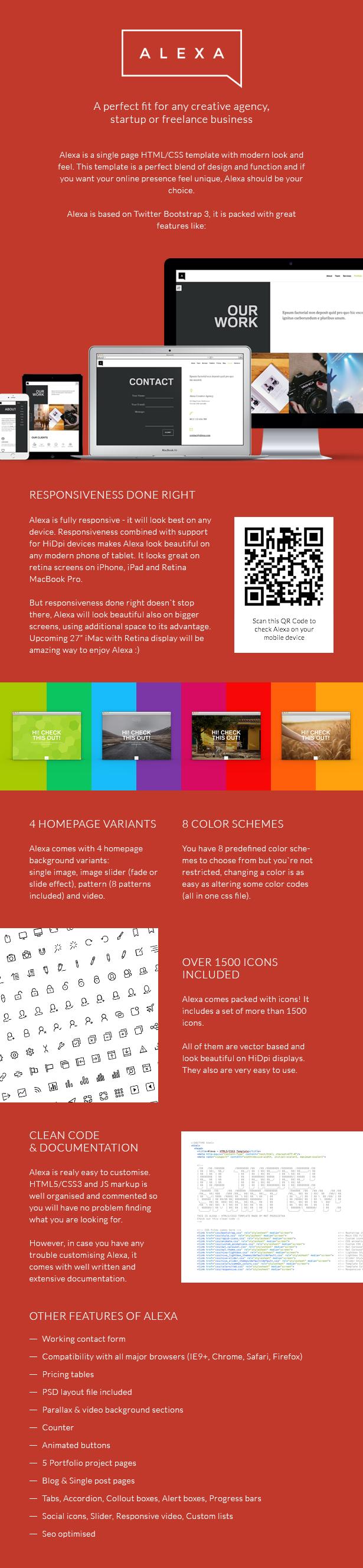 Alexa - Creative Single Page Template